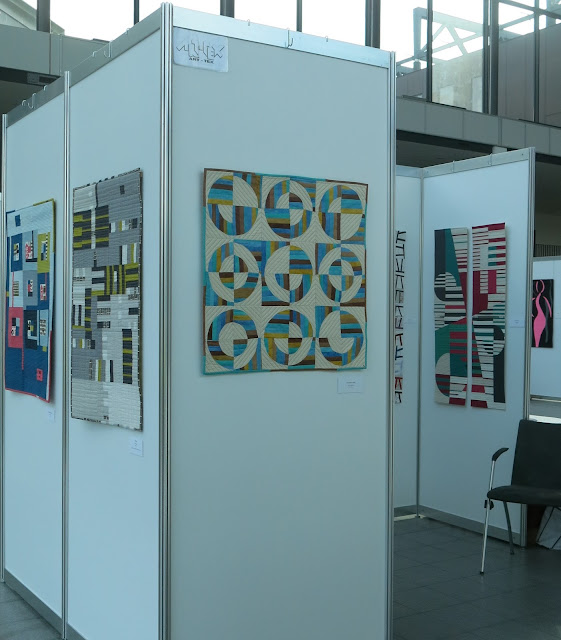 art-tex exhibition at Nadelwelt Karlsruhe 2018 - quilts by Martine Mercier and Sophie Zaugg