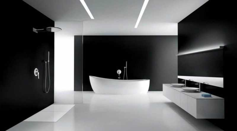 Cozy Modern Minimalist Style Bathroom Interior Design Art Home Interesting Bathroom Design Colors Minimalist