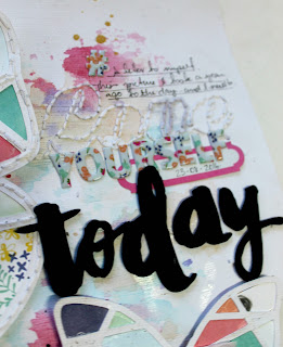 """ Today"" layout by Bernii Miller for Sugar Maple Paper Co."