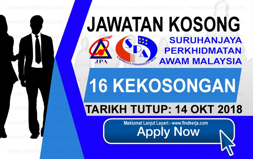 Jawatan Kerja Kosong SPA - Suruhanjaya Perkhidmatan Awam Malaysia logo www.ohjob.info www.findkerja.com oktober 2018