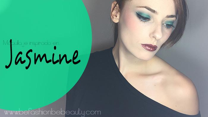 Maquillaje en tono verde. | Inspirado en Jasmine.