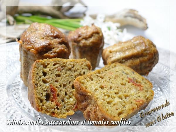 Minis cannelés aux sardines et tomates confites