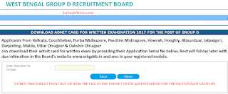 West Bengal Railway Group D Interview Call Letter 2017