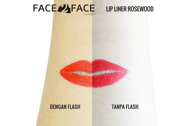 Face2Face XOXO Lip Liner Rosewood