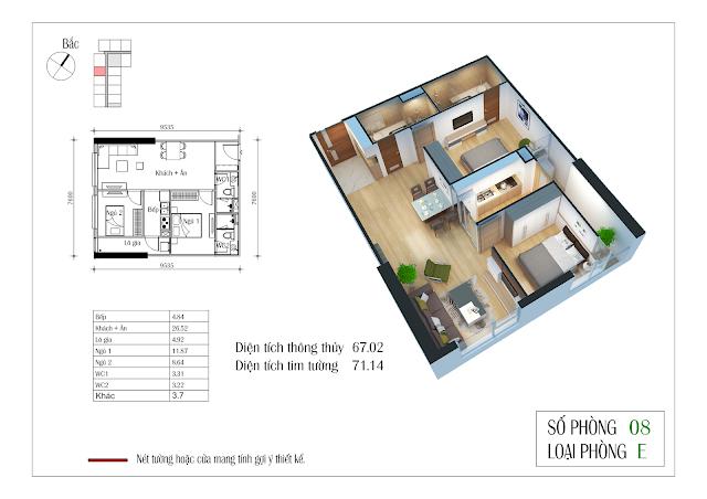 Thiết kế căn hộ số 08 Eco-green city