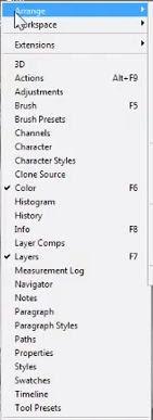 photoshop cs6 : arrange view option