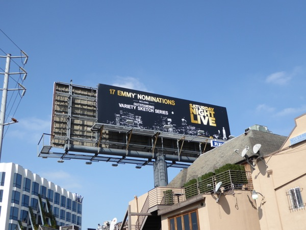 SNL 2016 Emmy nomination billboard