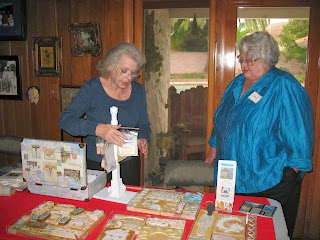 Linda Friedman and her sculpy stamps with Carol Churchill