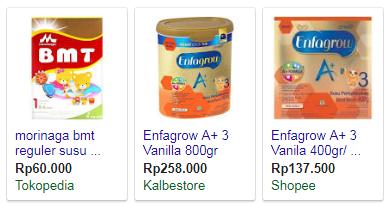 Online Shop yang Jual Susu Formula