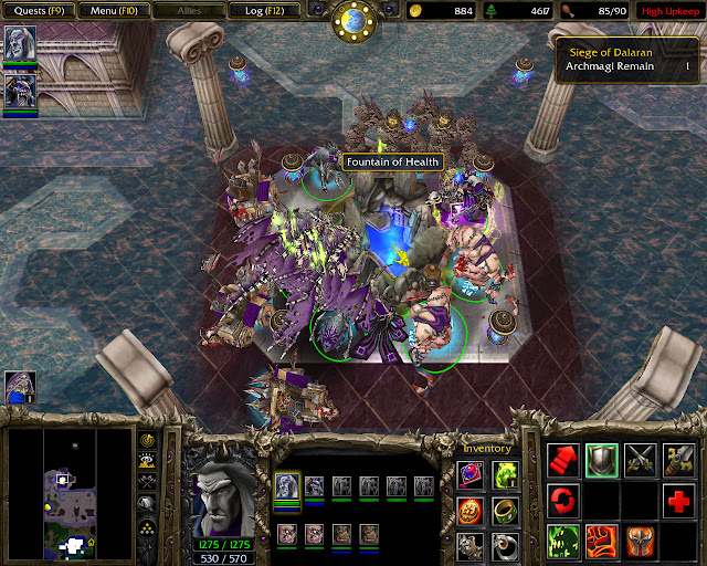 The Siege of Dalaran Mission 18 | Fountain of Health Screenshot | Warcraft 3: Reign of Chaos
