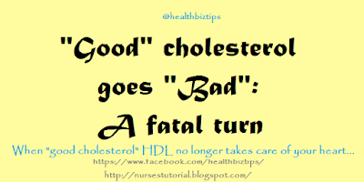 """Good"" cholesterol goes ""bad"": A fatal turn"