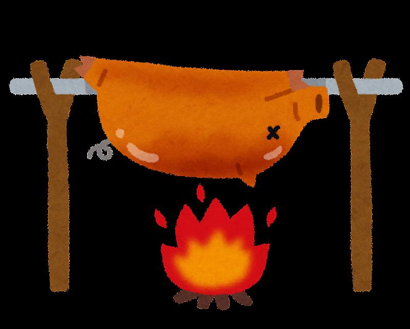 豚の丸焼きのイラスト かわいいフリー素材集 いらすとや