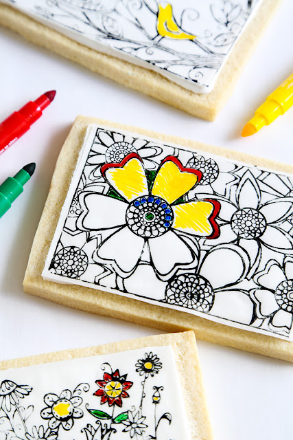 Make Coloring Book Cookies On The Etsy Blog