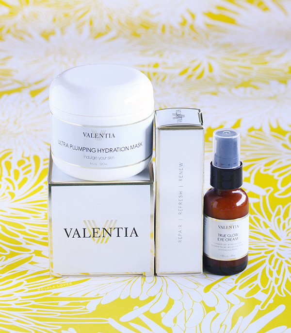 Valentia True Glow Eye Cream, Valentia Ultra Plumping Hydration Mask