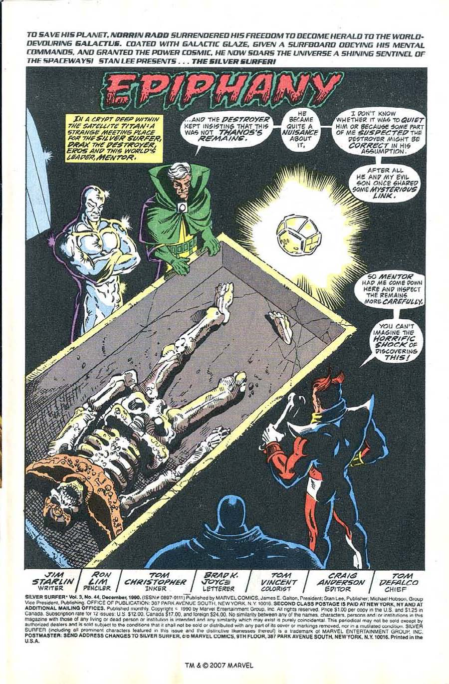 Read online Silver Surfer (1987) comic -  Issue #44 - 3