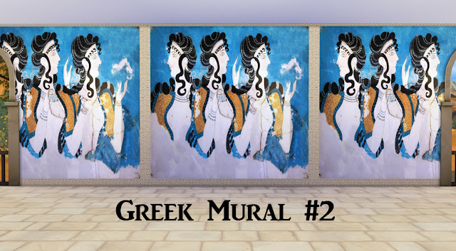 Ts4 ancient greece murals history lover 39 s sims blog for Ancient greek mural