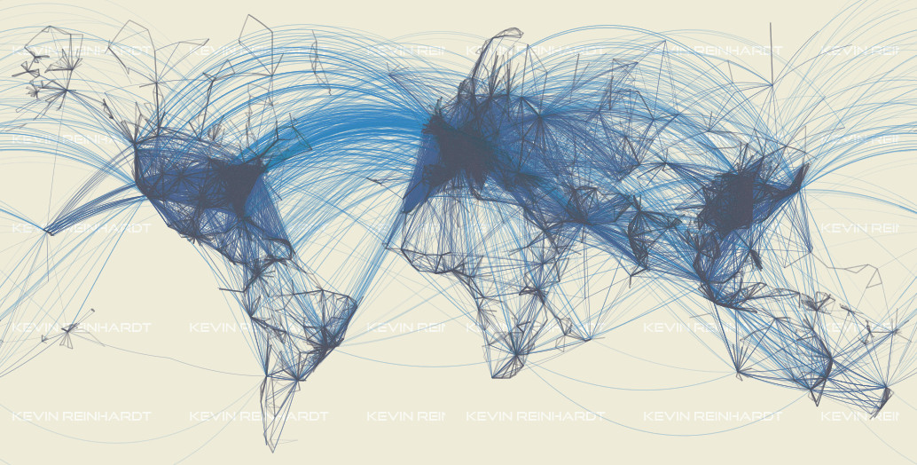 Worldwide Airline Routes & Flight Patterns