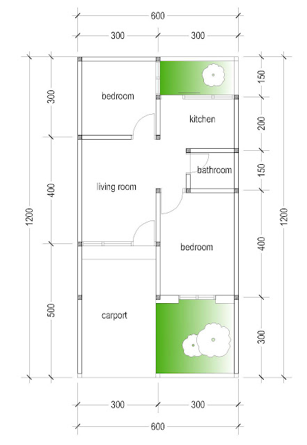 layout of house plan A-15b