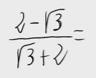 49.Racionalización (Con sumas o restas de raíces en denom.)