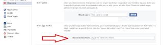 facebook block invities