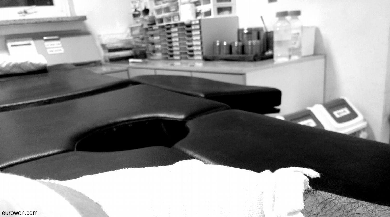 Hospital en blanco y negro