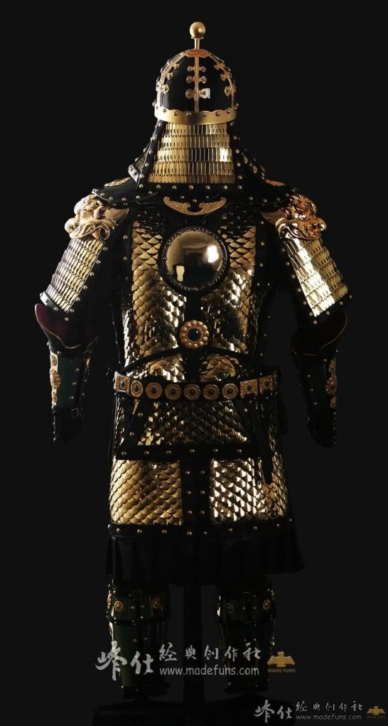 """Ming Dynasty Armor ƘŽç""""² Chinese ancient superhero fighter general armor costume and helmet complete set rental set traditional buy purchase on sale shop supplies supply sets equipemnt equipments. dragon s armory blogger"""