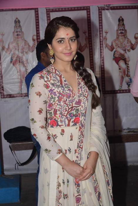 Rashi Khanna At SVC Productions New Movie Launch Galllery