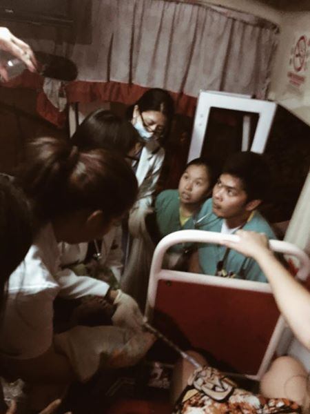 Passengers help woman giving birth inside a bus