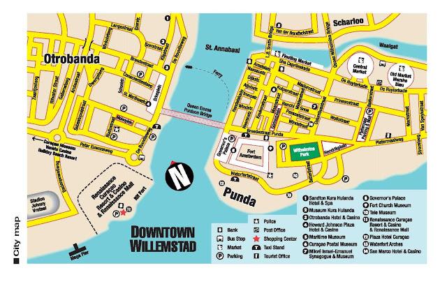 Mapa de Willemstad – Curaçao