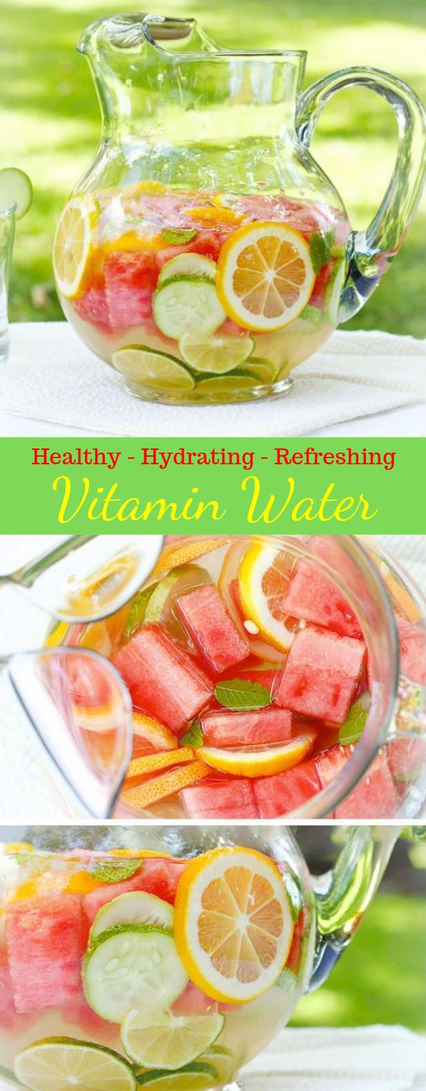 REFRESHING, NOURISHING HOMEMADE VITAMIN WATER #Drink #Water