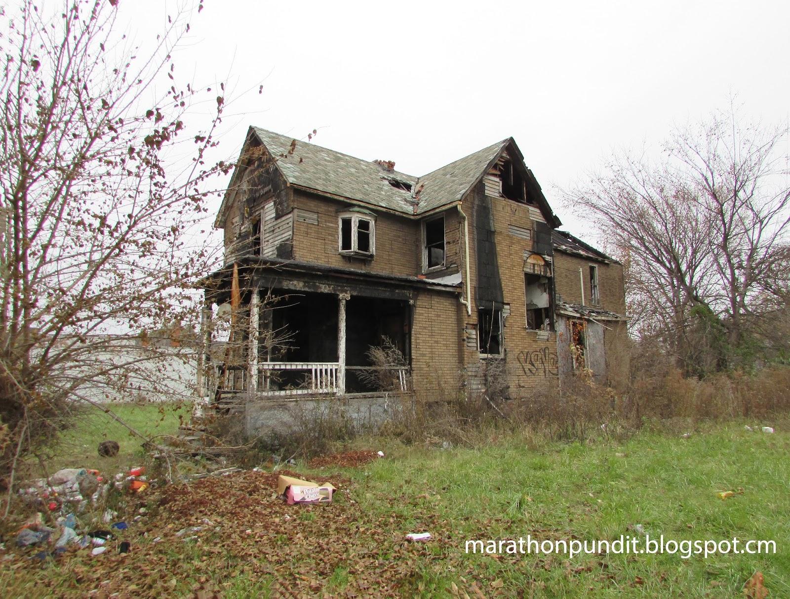 Marathon Pundit: The abandoned homes of Detroit's NW Goldberg