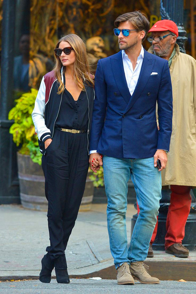 how to wear jumpsuit trend street style Olivia Palermo