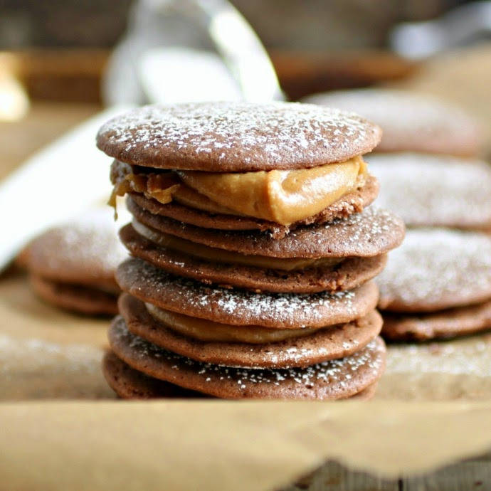Chocolate and Peanut Butter Whoopie Pies