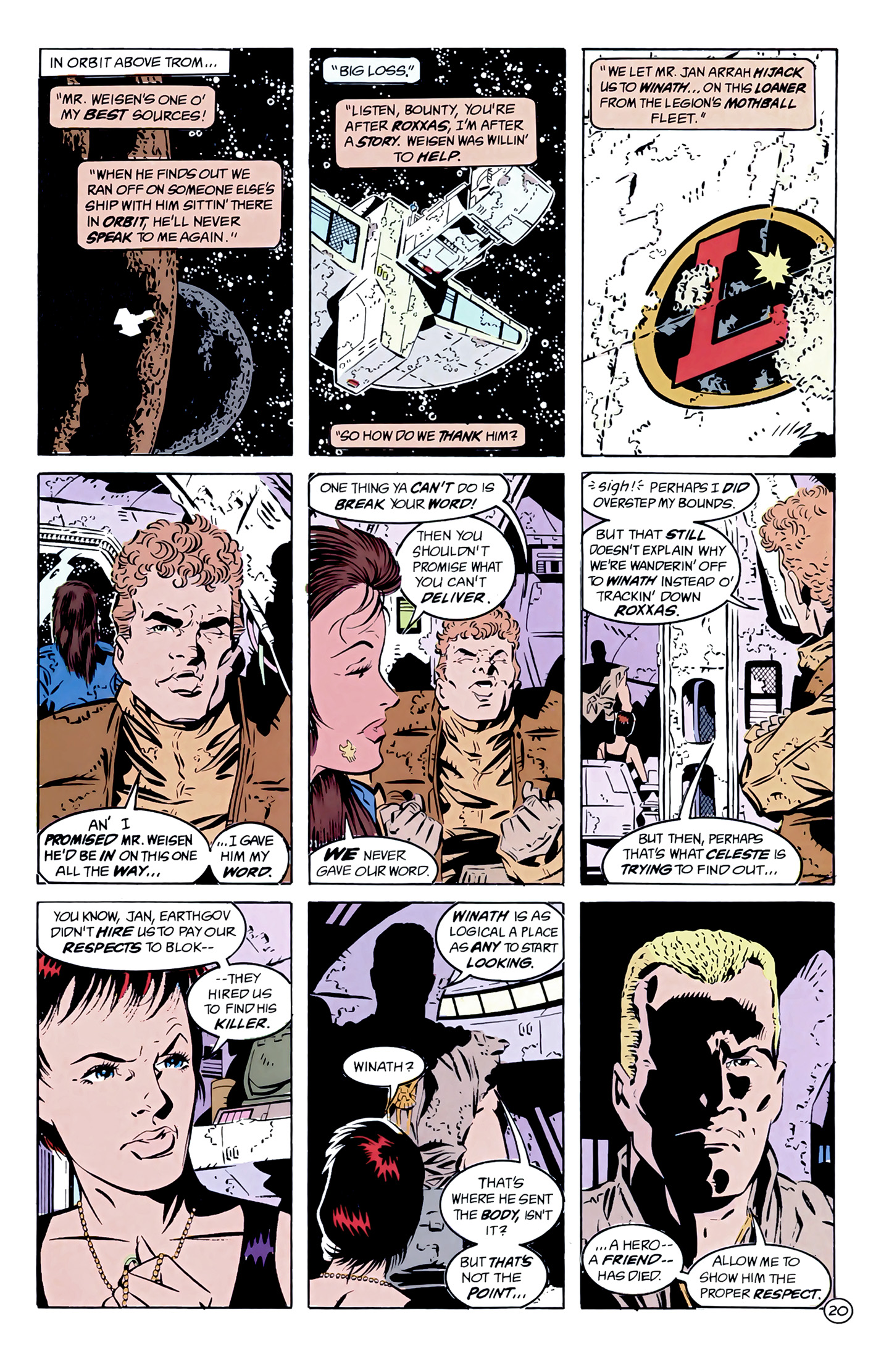 Legion of Super-Heroes (1989) 7 Page 20