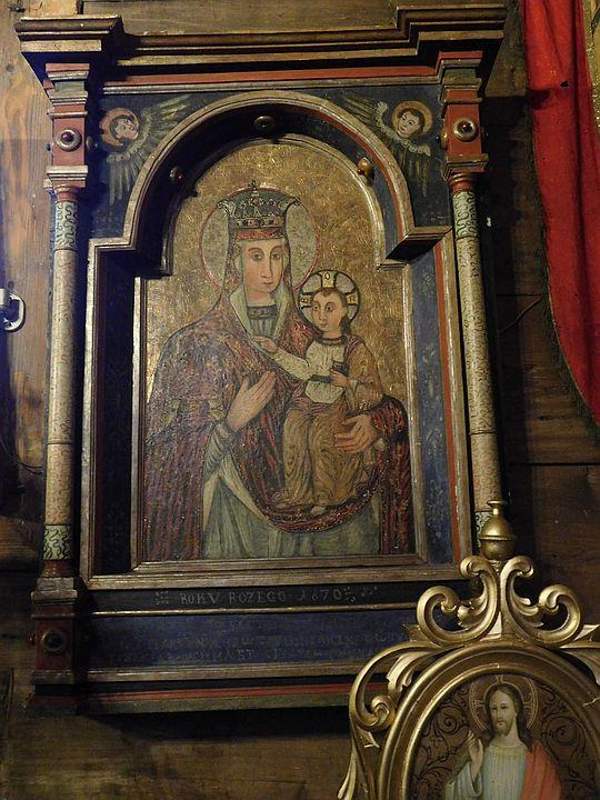 Ikona z postacią Matki Bożej typu Hodigitria.