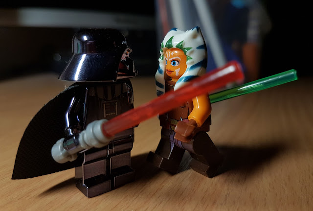 Ahsoka Tano and Darth Vader fan art Star Wars