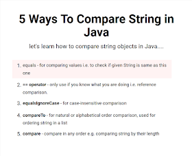 5 ways to Compare String Objects in Java - Example Tutorial