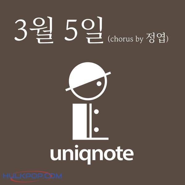 Uniqnote – 3월5일 – Single