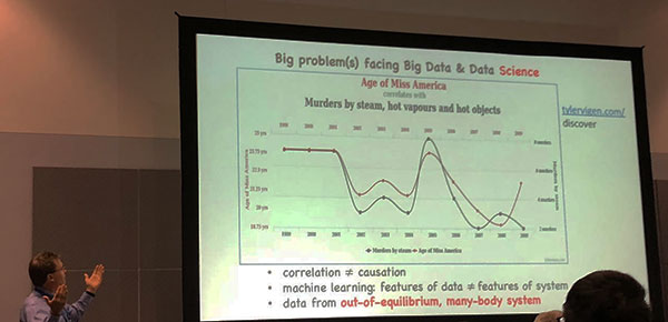 "Neil Johnson, U of Miami, at the APS March meeting, warns of problems in ""Big Data"" analysisNeil Johnson, U of Miami, warns of problems in ""Big Data"" analysis"