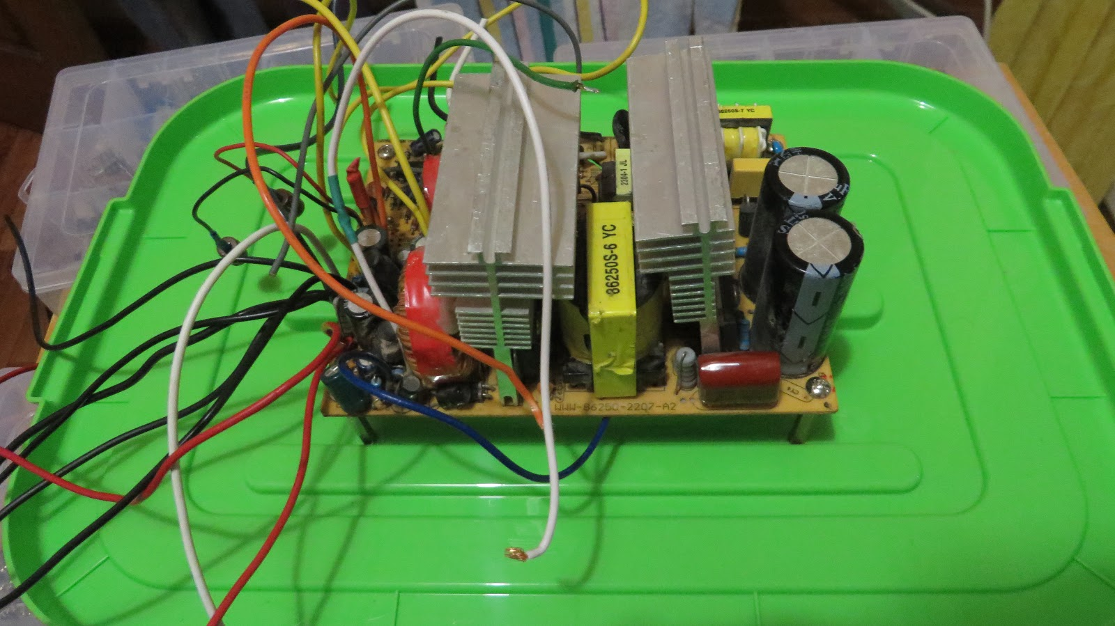 Heap But Ugly Variable Bench Power Supply 1 To 9v Desktop Attach The Box Less Psu Lid