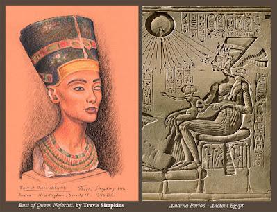 Bust of Queen Nefertiti. The Egyptian Museum, Berlin. by Travis Simpkins