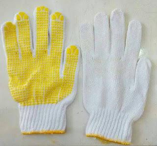 sarung tangan kerja benang putih