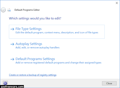 Default Programs Editor