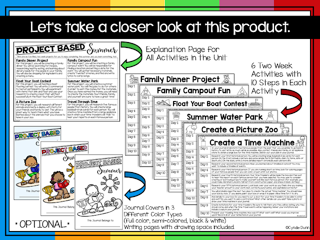 https://www.teacherspayteachers.com/Product/Project-Based-Summer-2543453