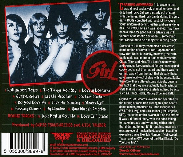 GIRL (Phil Collen) - Sheer Greed [Rock Candy remastered +3] (2016) back