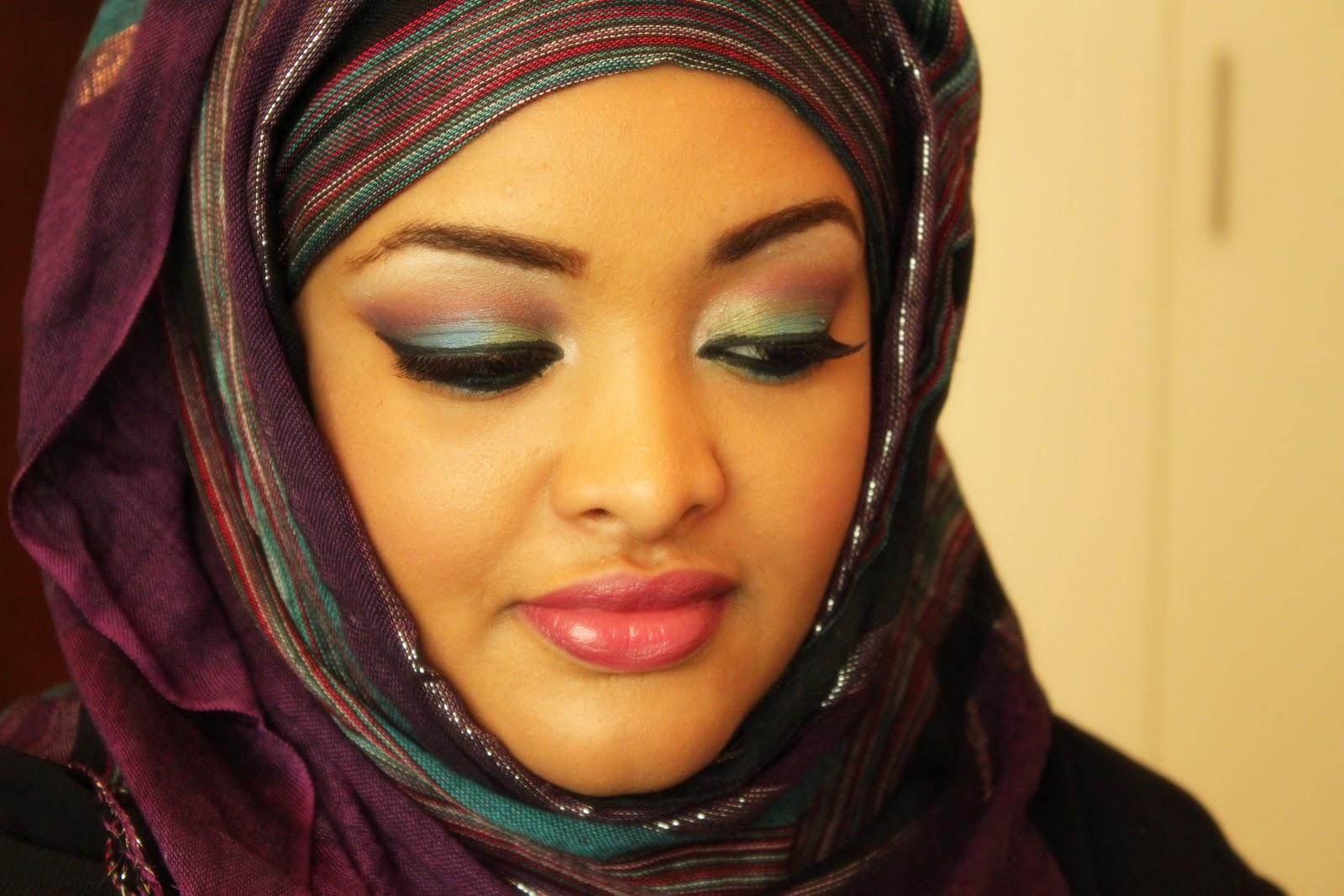 black pearl makeup: Arabic Makeup : Color Splash