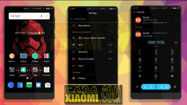 Tema Xiaomi Super Hero StarWars Red Mtz For MIUI V8 / V9 Themes