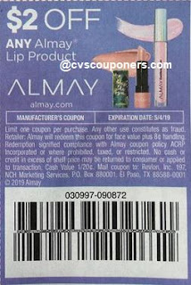 $2/1 Almay Lip Product, 4/7 Smart Source, EXP:05/04/2019