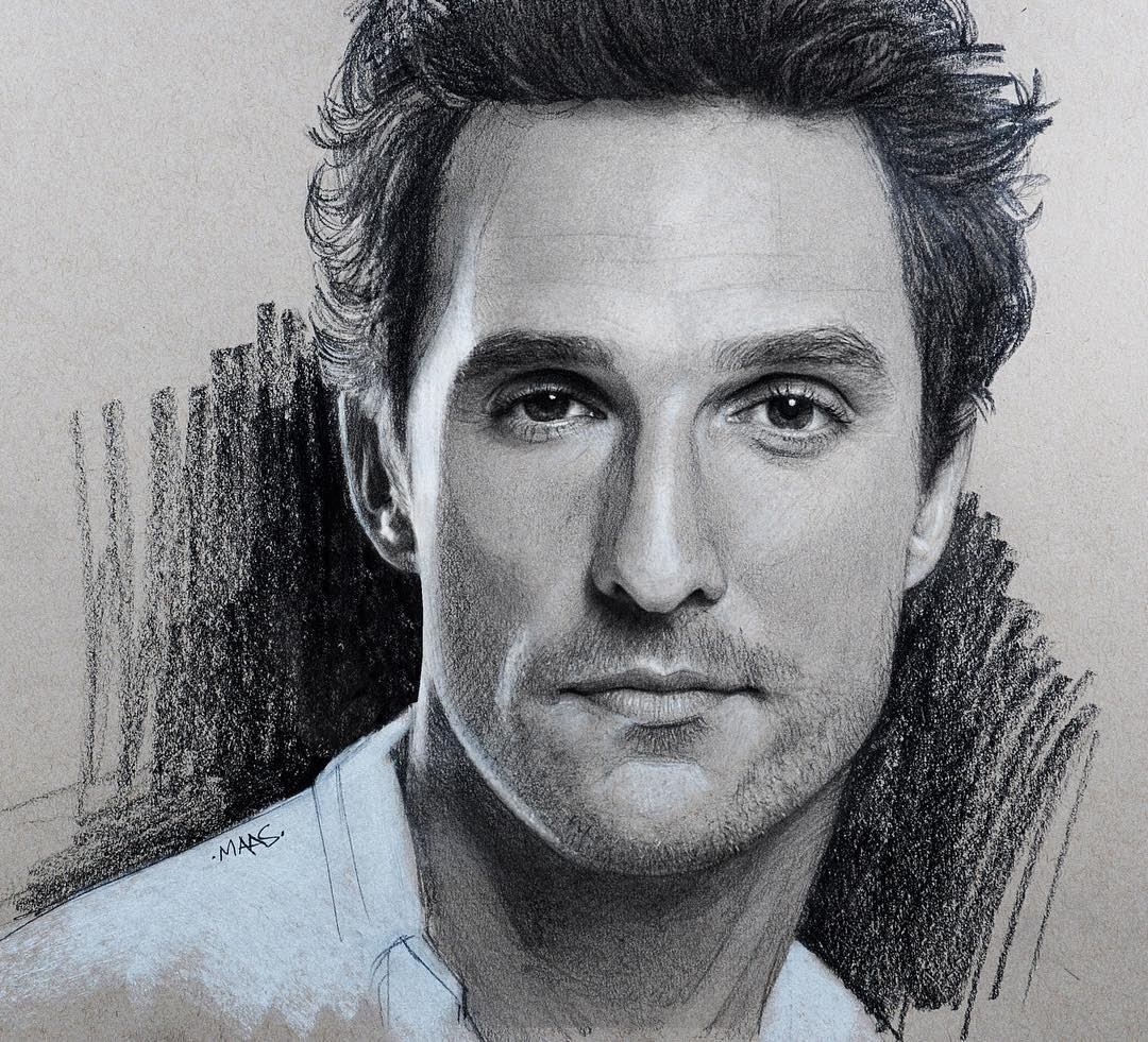 14-Matthew-Mcconaughey-Justin-Maas-Pastel-Charcoal-and-Graphite-Celebrity-Portraits-www-designstack-co