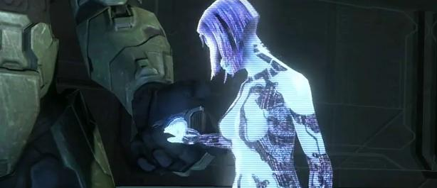 cortana holding master chief hand h3